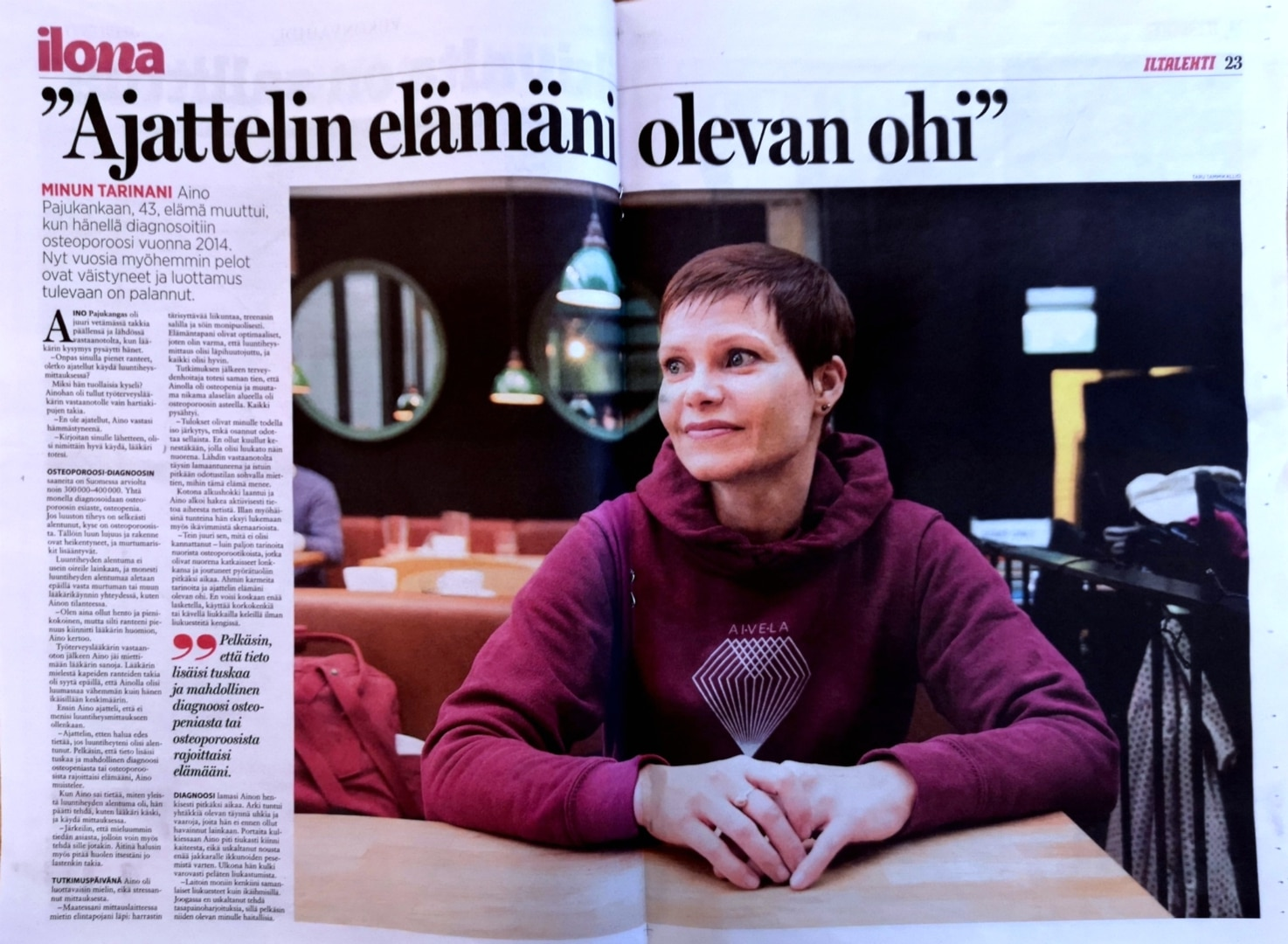 VIestintätoimisto Aivelan Aino Pajukangas - Ilonan haastattelu