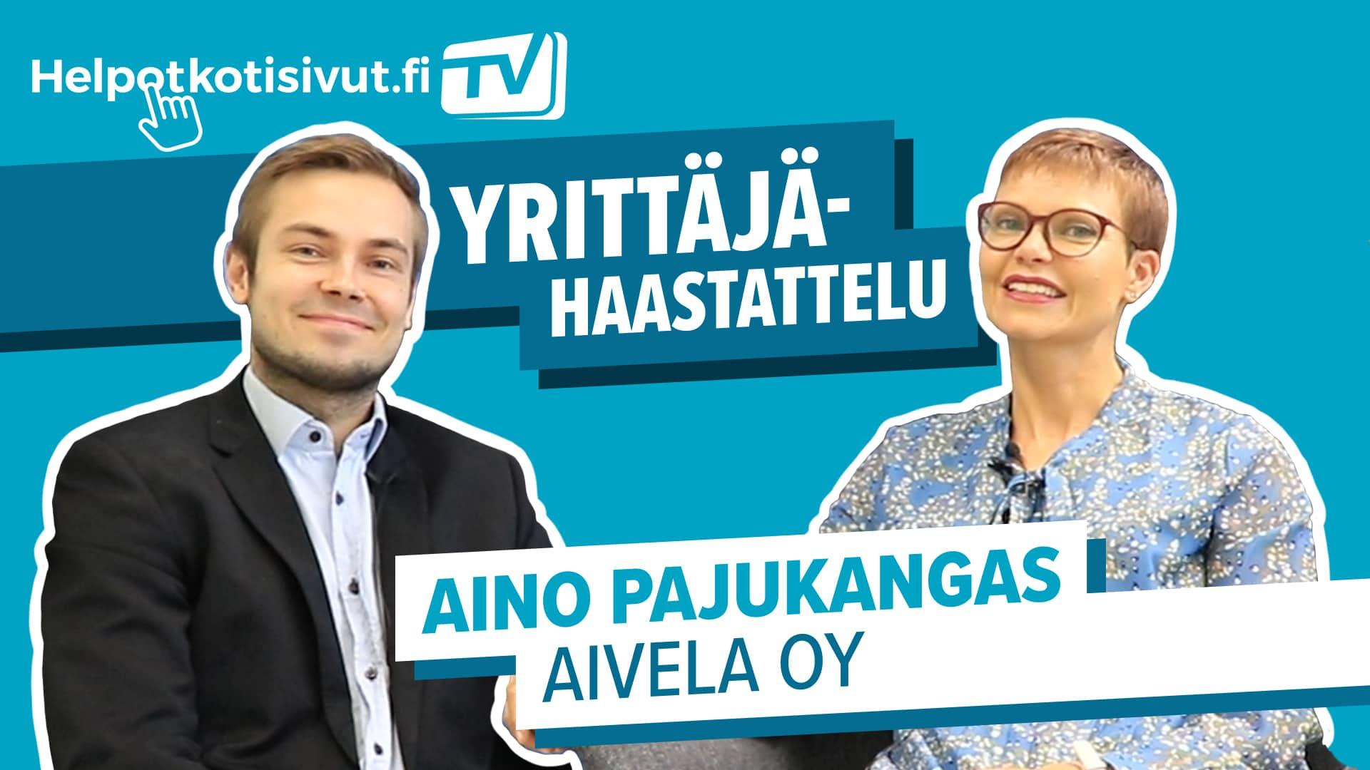 VIestintätoimisto Aivelan Aino Pajukangas videohaastattelussa