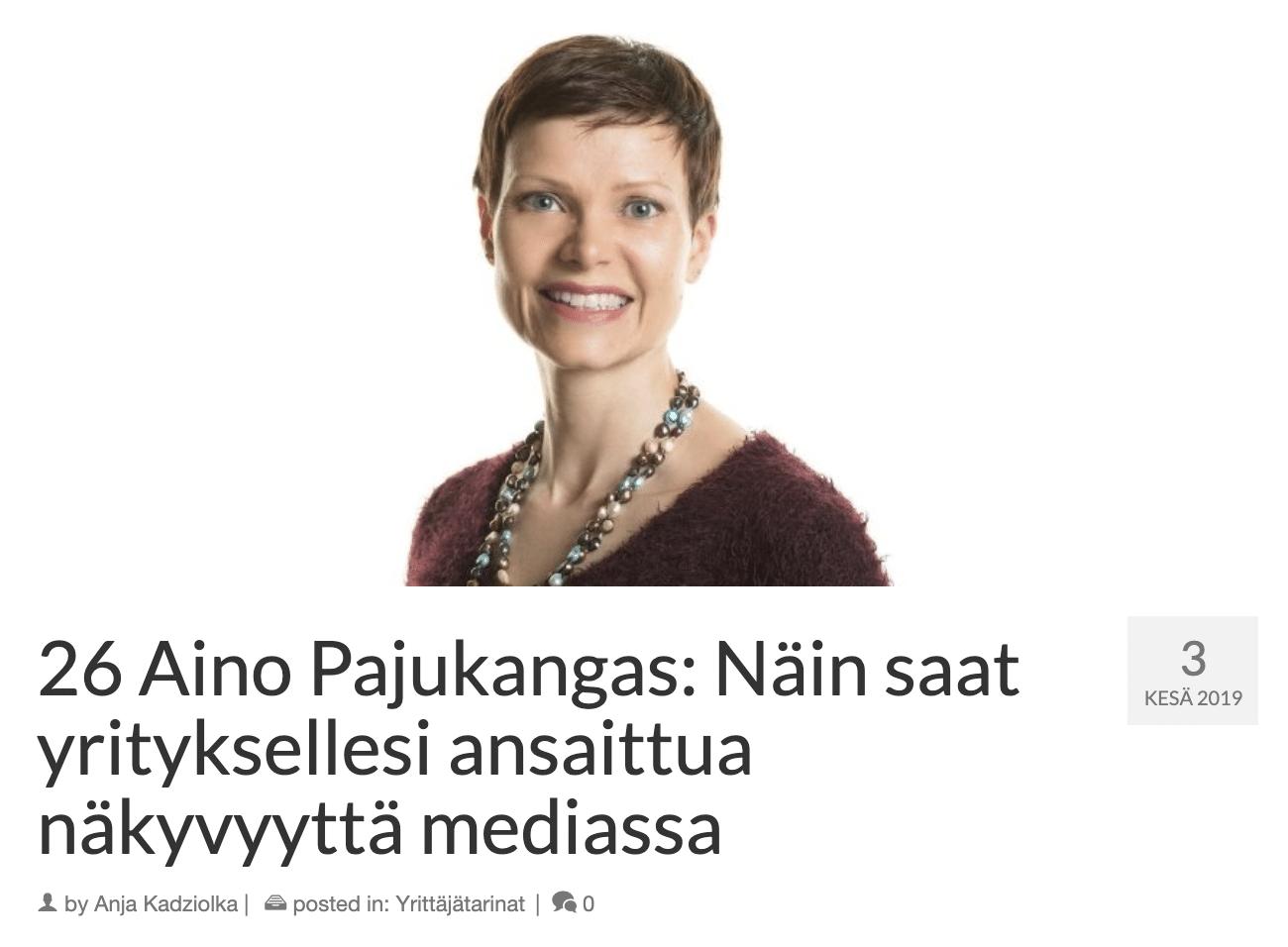 VIestintätoimisto Aivelan Aino Pajukangas Mamaonbis-podcastissa