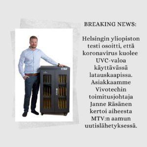vivotech latausasema rohkeus tiedote mediaviestintä
